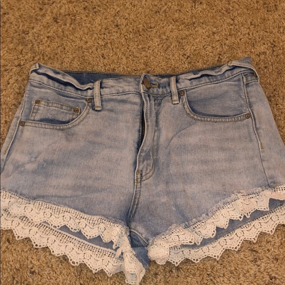 Free People Pants - Free People FP Lace Shorts — size 27